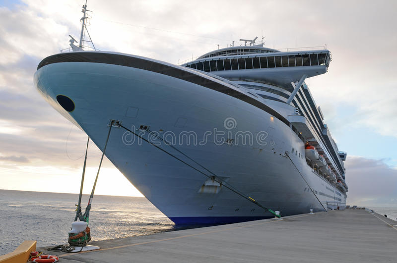 Download Cruise Ship Anchored stock image. Image of modern, front - 9837325