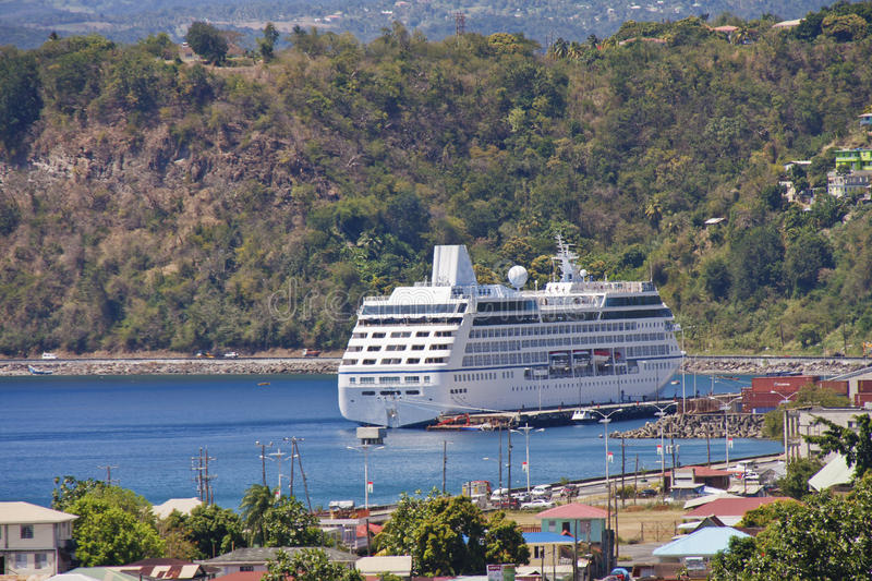 Download Cruise Ship Anchored In Bay Stock Photo - Image: 22411924