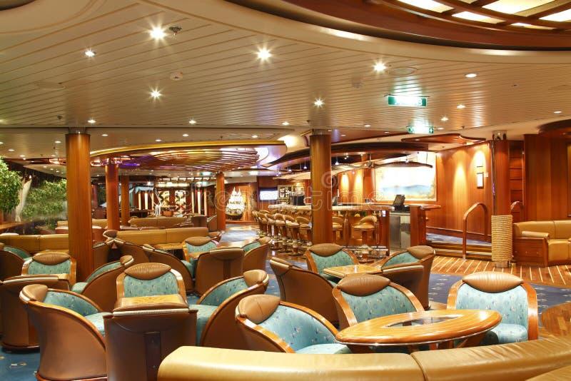 Cruise ship bar stock photo