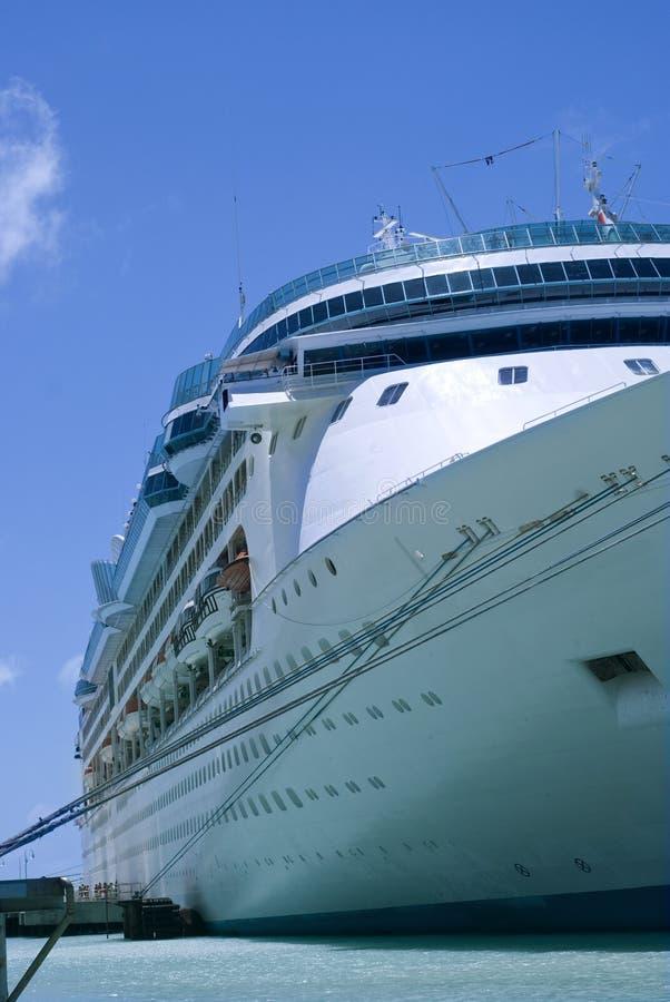 Cruise ship at bay 4 royalty free stock photo