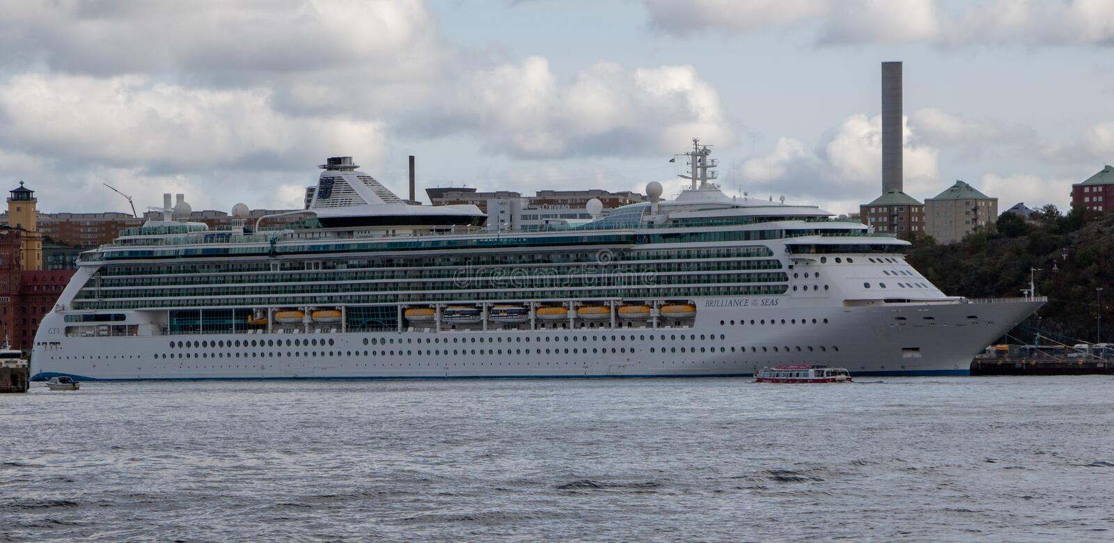 Cruise Ship Brilliance Of The Seas In Stockholm Sweden Editorial