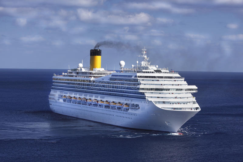 Cruise Ship in the Caribbean royalty free stock images