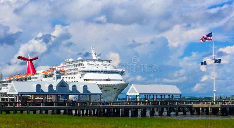 Cruise Ship Carnival Fantasy Docked In The Port Of Charleston SC - Cruise ships charleston sc