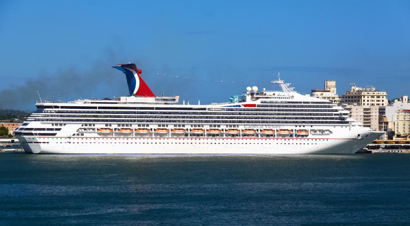 Cruise Ship Carnival Victory In San Juan, PR Editorial Stock Photo