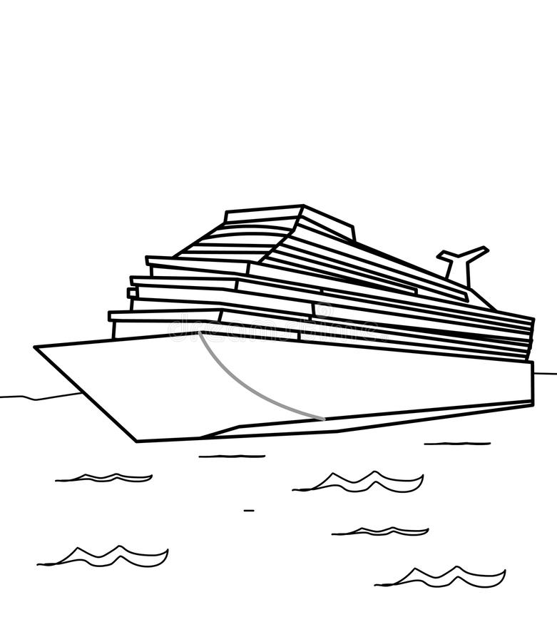 download cruise ship coloring page stock illustration image of clip 87361384