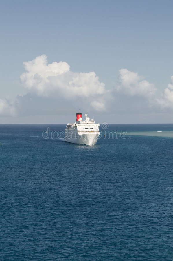 Download Cruise ship coming in stock image. Image of luxury, holiday - 8314973