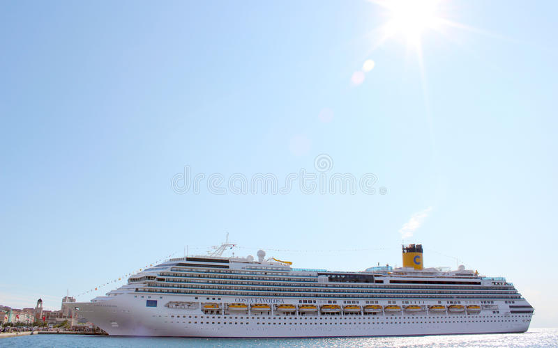 Cruise ship Costa Favolosa stock images