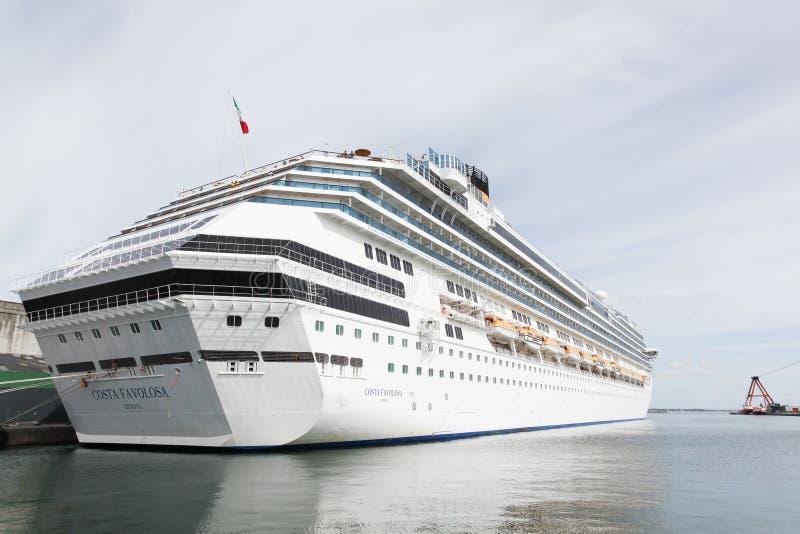 Cruise ship Costa Favolosa in the port o Aarhus in Denmark stock photos