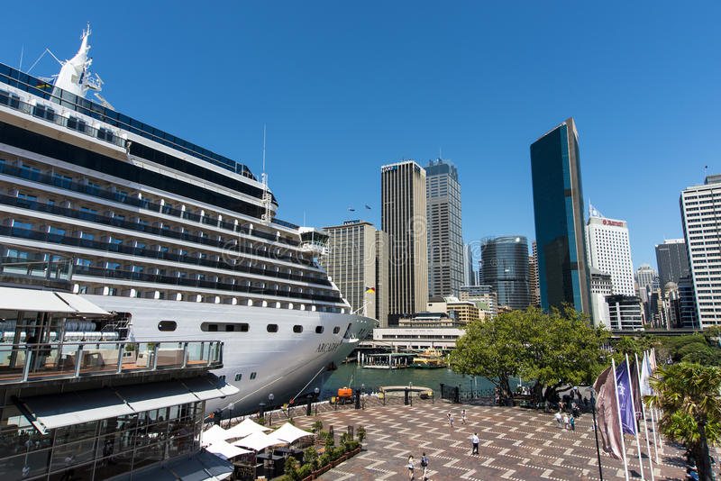 Arcadia Cruise ship berthed royalty free stock photography