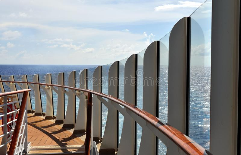 Download Cruise Ship Deck stock image. Image of abstract, horizon - 25831669