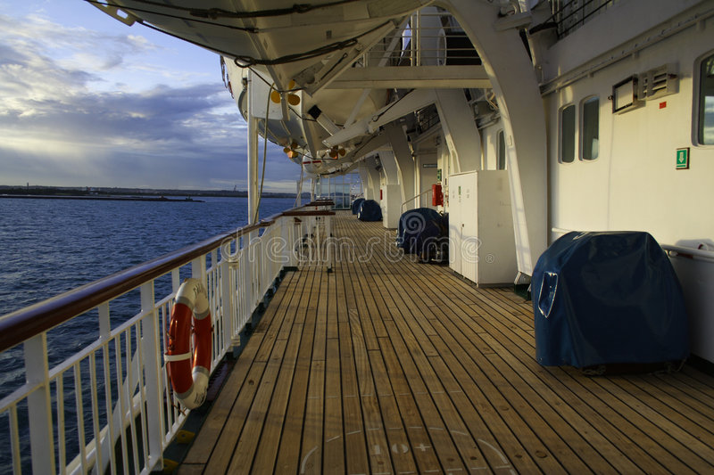 Download Cruise Ship Deck stock photo. Image of empty, trip, lifeboats - 4770910