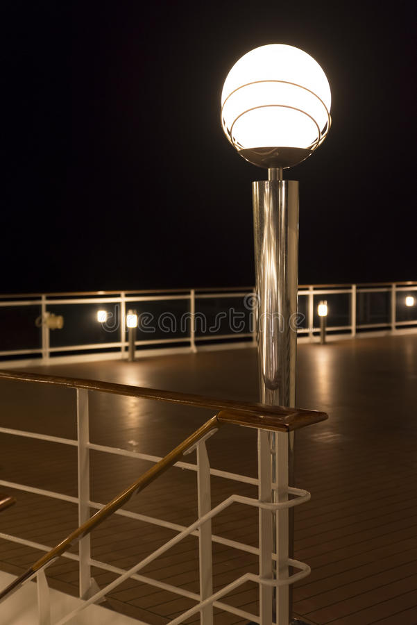 Free Cruise Ship Deck At Night Stock Image - 44741211