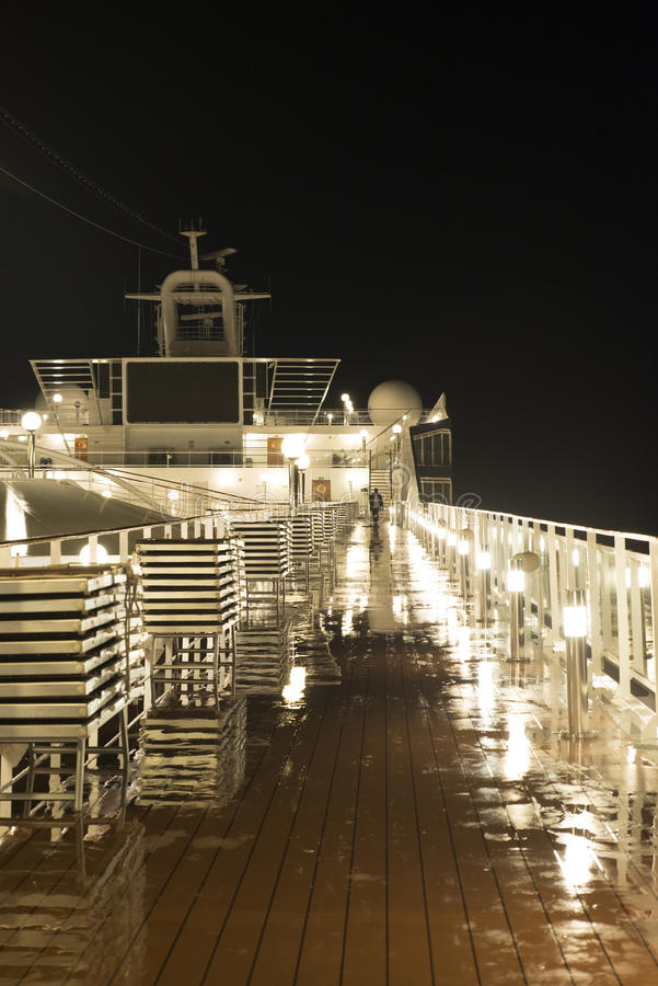 Free Cruise Ship Deck At Night Royalty Free Stock Photography - 44958027