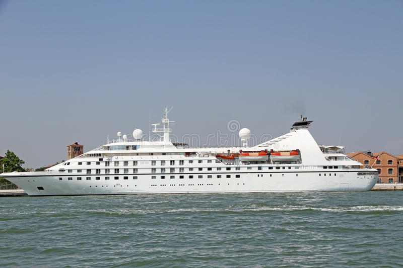 Download Cruise Ship Departing From The Marina Heads To Exotic Destinatio Stock Photo - Image: 33336556