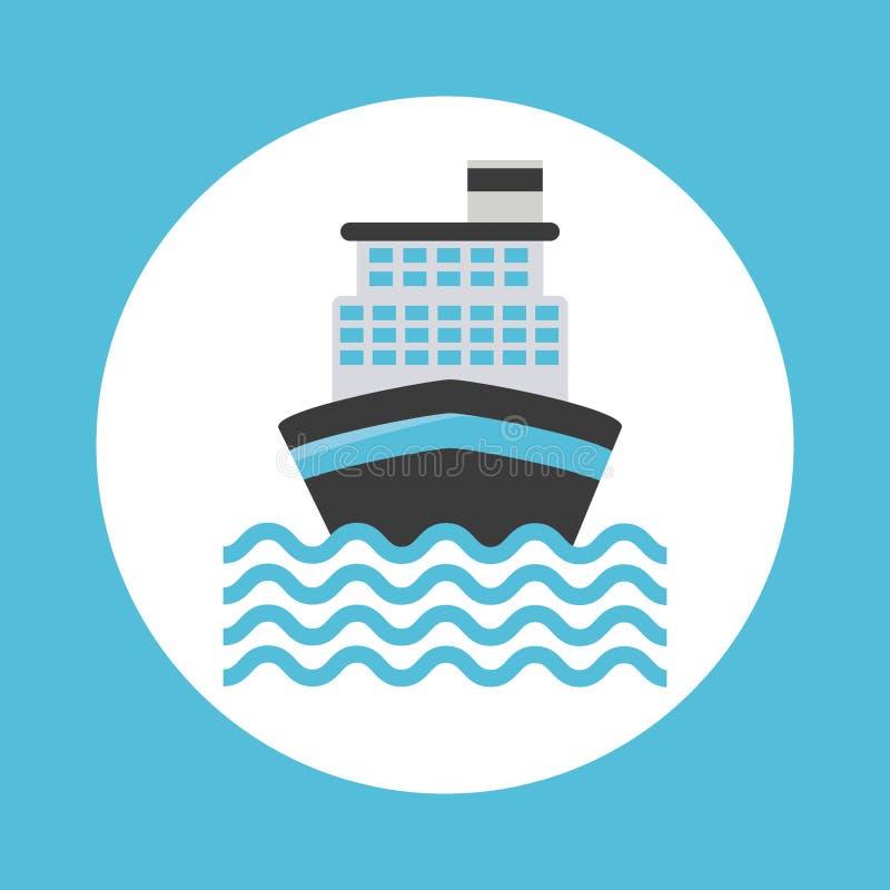 Cruise ship design vector illustration