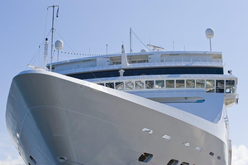Cruise ship detail stock image