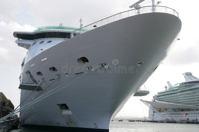 Cruise Ship at Dock stock images