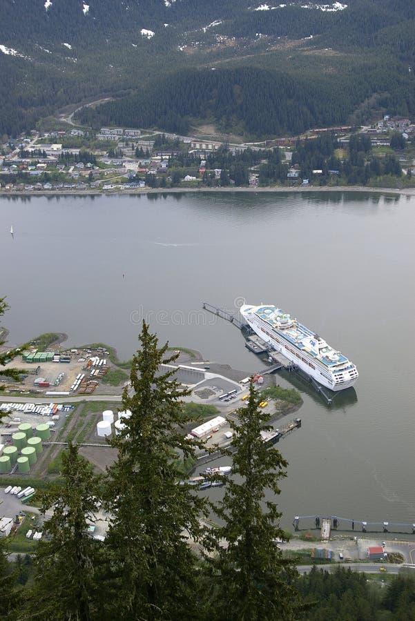 Cruise Ship At Dock In Juneau Alaska Stock Image