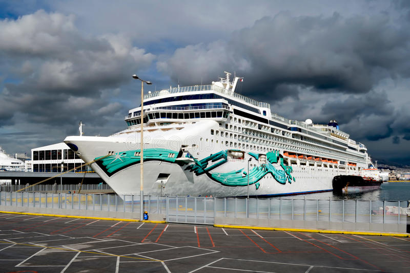 Cruise ship at the dock royalty free stock image