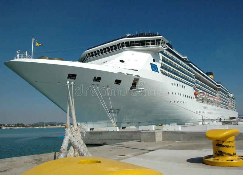 Cruise Ship Docked royalty free stock photo