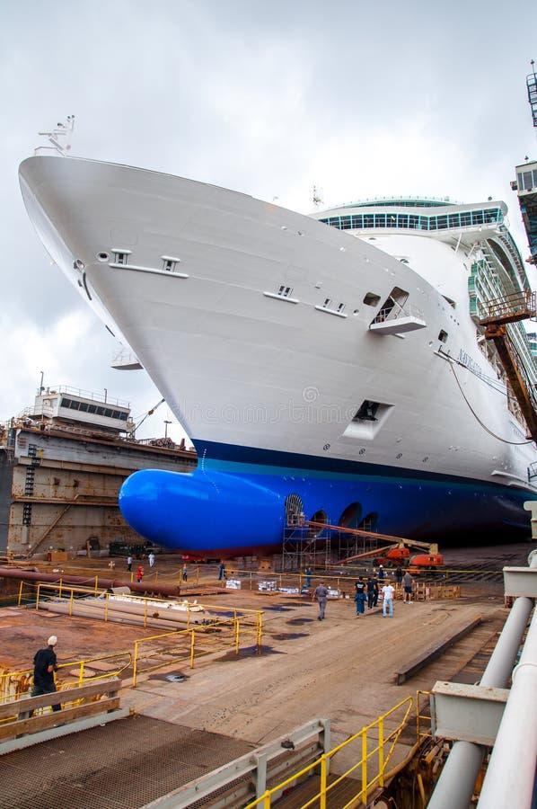 Cruise Ship Drydock stock photography