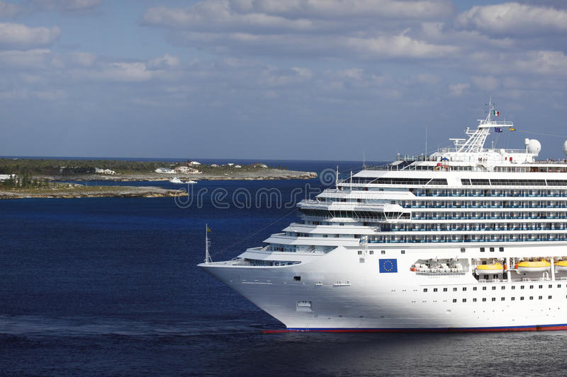 Cruise ship front royalty free stock image