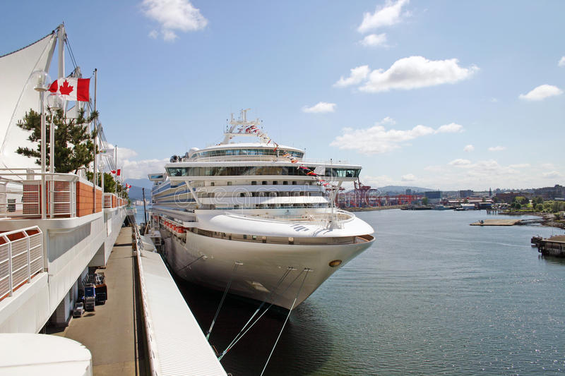 Download Cruise ship in harbor stock photo. Image of vessel, vacation - 14686176