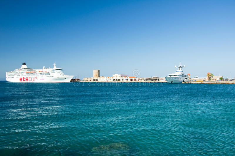 Download Cruise Ship In A Harbour. Greece, Rhodes. Editorial Stock Image - Image: 33251829