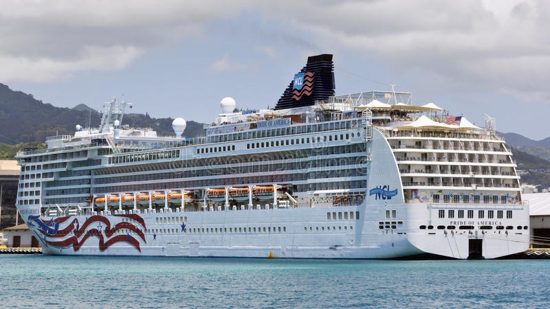 Cruise ship in Hawaii royalty free stock photography