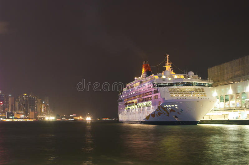 Cruise ship in Hong Kong royalty free stock image