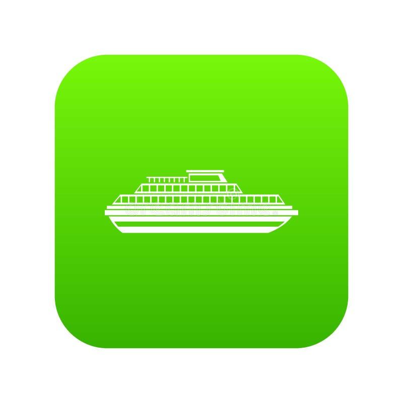 Cruise Ship Icon Digital Green Stock Vector - Illustration ...