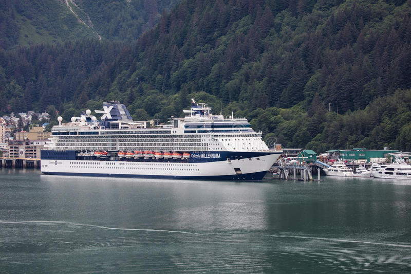 Cruise Ship in Juneau royalty free stock photos