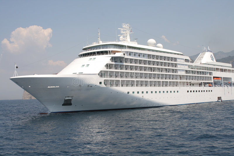 Cruise ship,leaving the harbou royalty free stock photo