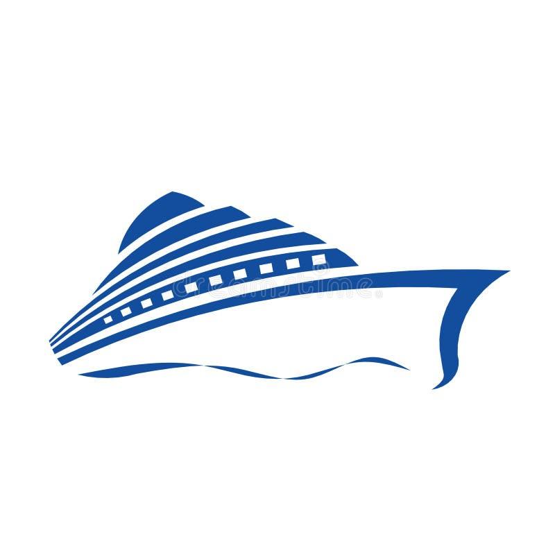 Cruise Ship Logo. Cruise Ship stylized Logo in one color