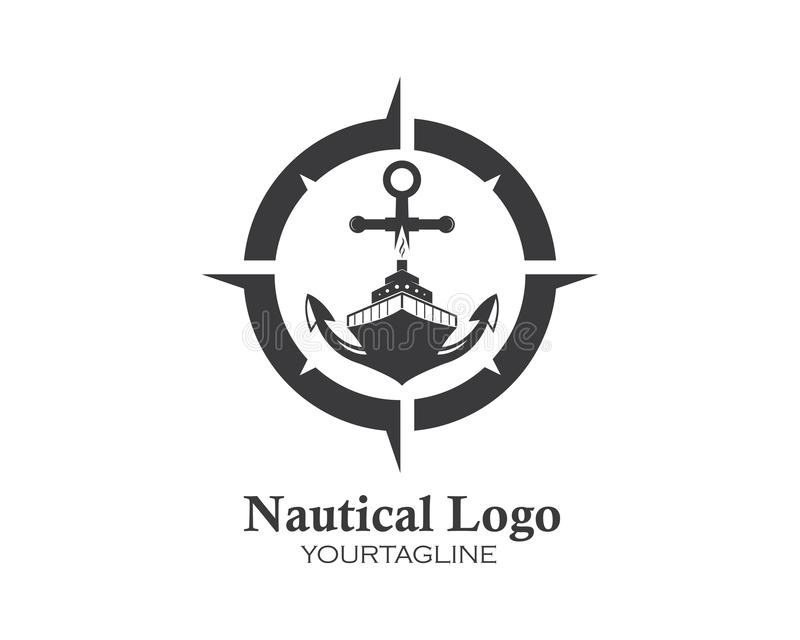 Cruise ship Logo Template vector icon illustration vector illustration