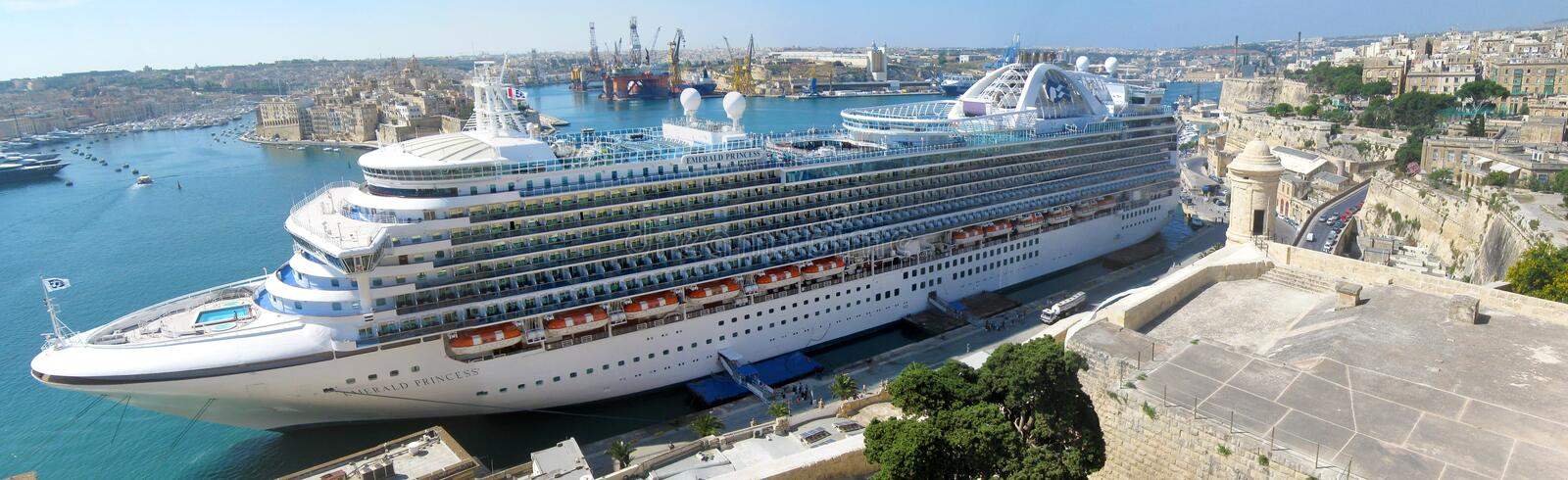 Cruise ship in Malta stock images