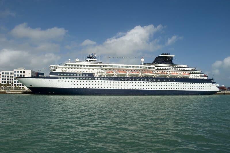 Cruise ship in Miami royalty free stock photos