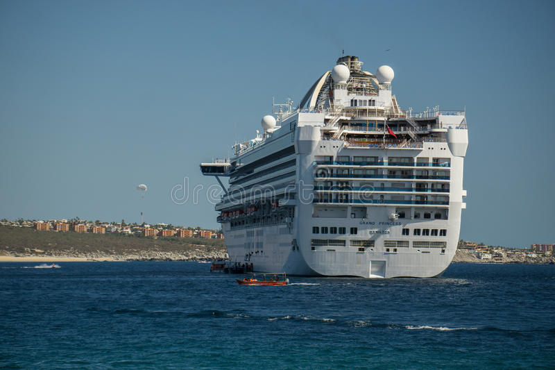 Cruise Ship off Cabo royalty free stock photo