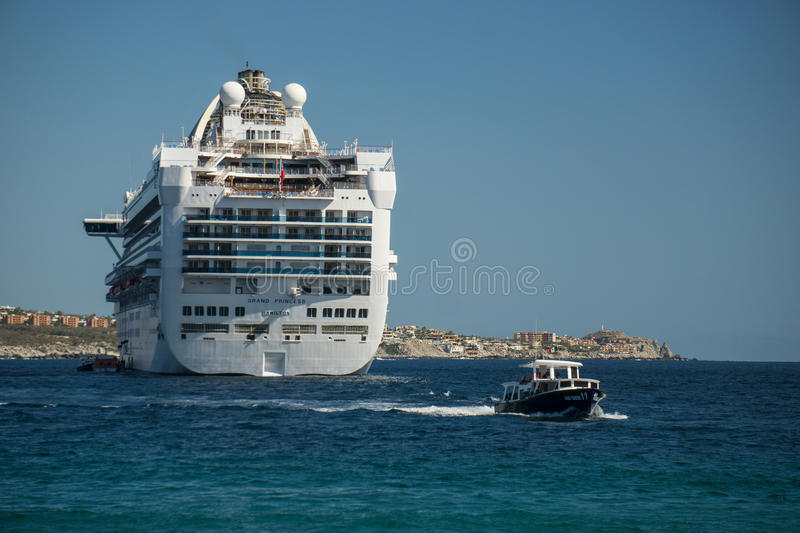 Cruise Ship off Cabo royalty free stock images