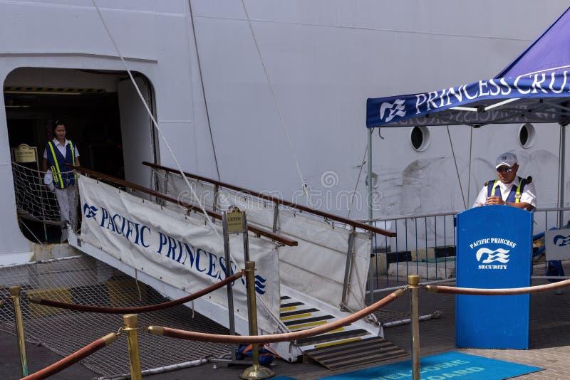 Cruise ship Pacific Princess royalty free stock image