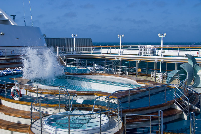 Cruise Ship Pool Wave royalty free stock photos