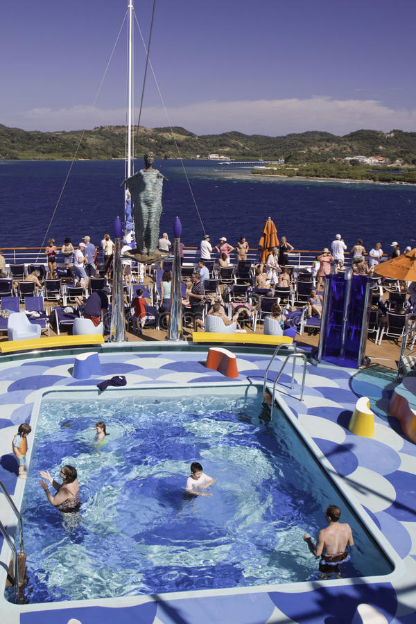 Download Cruise Ship -  Poolside Off The Island Of Roatan Editorial Image - Image: 16448745