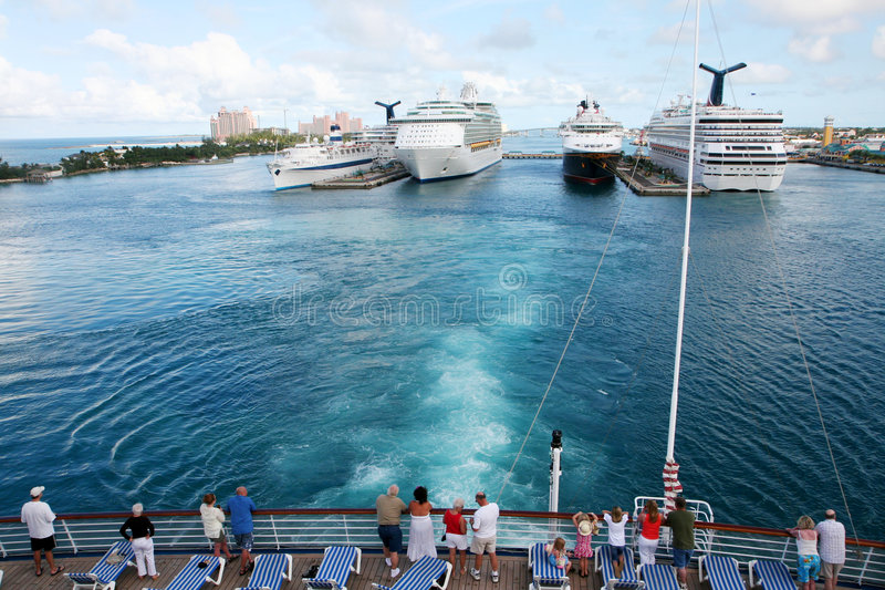 Cruise Ship Port royalty free stock photos
