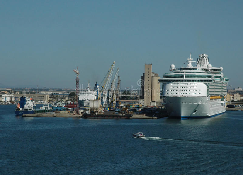 Cruise Ship and Port royalty free stock photo
