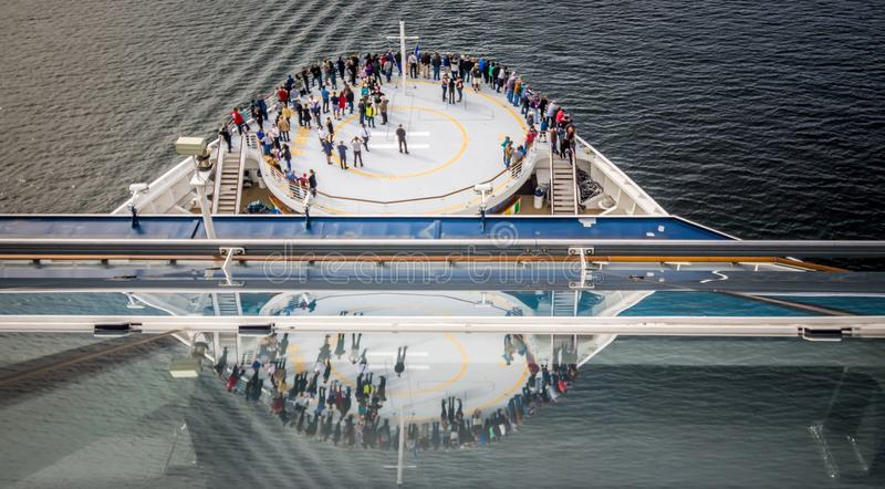 Cruise ship at port pier in ketchikan alaska royalty free stock photos