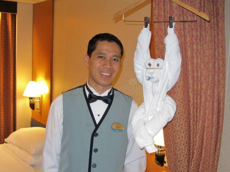Cruise Ship Room Steward And Towel Monkey Editorial Photo Image - Steward cruise ship