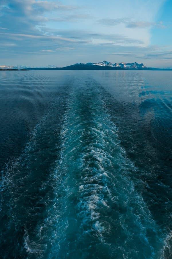 Cruise Ship`s Wake , Norwai ship. road to the dream. Cruise Ship`s Wake , Norwai ship stock photography