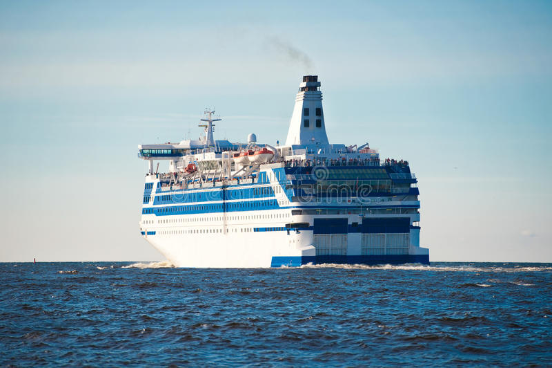 Cruise Ship At Sea Stock Photos
