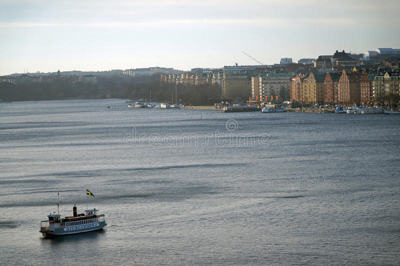 Cruise Ship in Stockholm royalty free stock photography