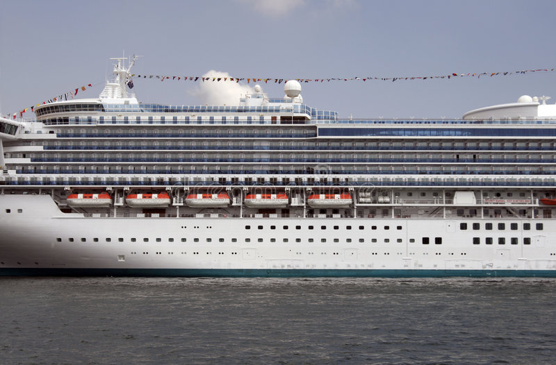 Cruise Ship In Sydney royalty free stock image